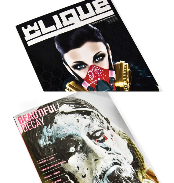 New Issues of Clique & Beautiful Decay Magazine.jpg