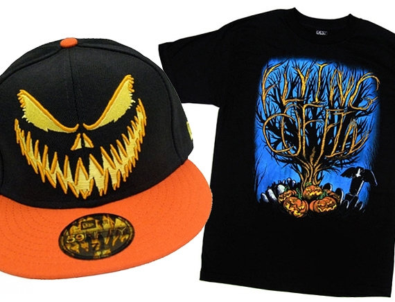 Flying Coffin Halloween Tee & Cap.jpg