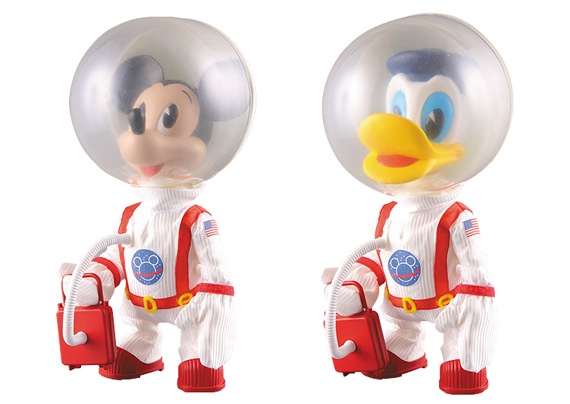 "Mickey Mouse and Donald Duck ""Astronaut Versions"" by Medicom.jpg"