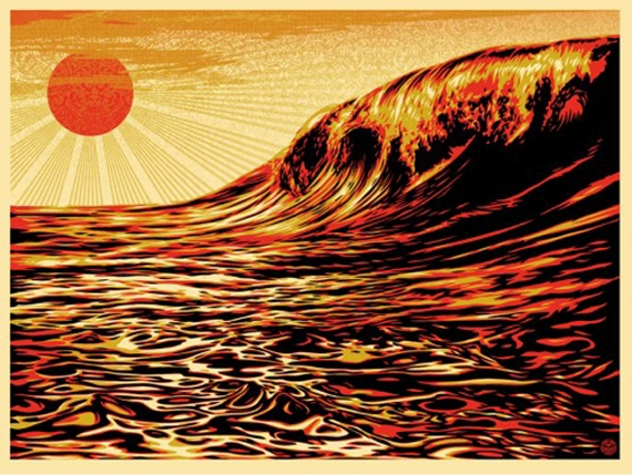 Shepard Fairey Dark Wave Rising Sun Japan Poster .jpg